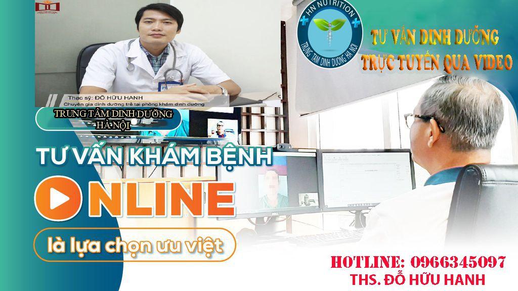 Quy trình khám và tư vấn dinh dưỡng online
